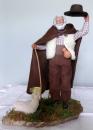miniature Santon en argile Berger et son mouton de Christian Bourelly
