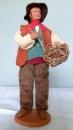 miniature Santon en argile Vincent le vannier de Claude Carbonel