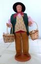 miniature Santon en argile Marchand de poules de Claude Carbonel