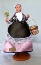 miniature Santon en argile Bouquetière de Claude Carbonel