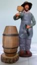miniature Santon en argile Tonnelier et ses instruments de Christian Bourelly