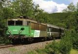 miniature RU 1238 - Train - loco BB 8630  vers CAMPAGNAC SAINT-GENIEZ - Aveyron 12 - SNCF