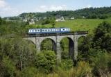 miniature RU 1244 - Autorail X 2800 sur le viaduc de la Sionne vers DRUGEAC SALERS - 15 - SNCF