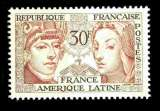 miniature France NSG Yvert N°1060 Amitiés France Amérique latine 1956