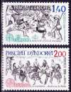 miniature Andorre (France) 1981 Europa - Le folklore - Y&T 292/3 **