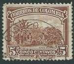 miniature Colombie - Y&T 0266 (o) - Plantation de Café -