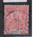 miniature MAYOTTE       N°  11 ( Réparé)     OBLITERE