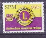 miniature Saint Pierre et Miquelon 808 lions club  2003 neuf ** TB MNH SIN charnela  faciale 0.5