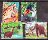 miniature France 4175 4178 2008 faune préhistorique du bf 119 neufs **TB MNH prix de la poste 2.63