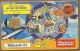 Télécarte - Phone card - F1019 - 11/99 - GEM1A - 51 u - Jeu Milliardième - Tour Monde .