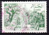 miniature Algérie 1982 YT 761 Obl Jardin du Dey Alger