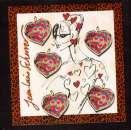 miniature France 2008 bloc Y&T 93 ** Saint Valentin coeur Scherrer 5 timbres lettre 20 g