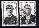 miniature Nouvelle Calédonie 377 378 de Gaulle oblitérés used TB cote 16.9
