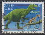 france 3334 cachet rond - animaux allosaure - yt 3334