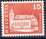 miniature Suisse 1968 YT 817 Obl Architecture Eglise Saint Maurice Appenzel - 2