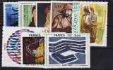 miniature FRANCE 2074 2075,2090,2107 2110,2113 Tableaux 1980 neufs ** luxe Prix de la poste 3.96 euros