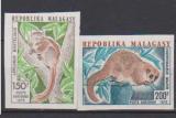 miniature MADAGASCAR       N°  PA  130/131    NON  DENTELE       NEUF SANS CHARNIERE