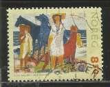 miniature Norvège 2003 - YT n° 1400 - Art - personnages et chevaux