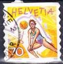 miniature Suisse 1998 YT 1590 Obl Sport Beach volley