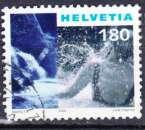 miniature Suisse 2000 YT 1654C Obl Chutes d'eau et femme se baignant