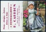 134 - Calendrier de poche 2 volets - 1985 - Fillette en costume du Périgord  - 2 scans
