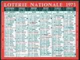 157 - Calendrier de poche - 1973 - Loterie Nationale - 2 scans