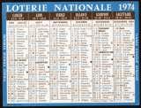158 - Calendrier de poche - 1974 - Loterie Nationale - 2 scans
