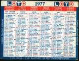 161 - Calendrier de poche - 1977 - Loterie Nationale - 2 scans