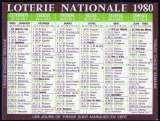 163 - Calendrier de poche - 1980 - Loterie Nationale - 2 scans 2