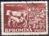 miniature 9587N - Y&T n° 1627 - oblitéré - Vaches laitières - 1959 - Roumanie