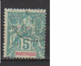 miniature MARTINIQUE         N°  34    OBLITERE             ( 09/15 )