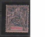 miniature MARTINIQUE         N°  38    OBLITERE             ( 09/15 )