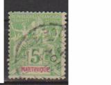 miniature MARTINIQUE         N°  44    OBLITERE             ( 09/15 )