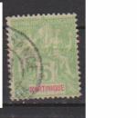 miniature MARTINIQUE         N°  44  ( 1 )   OBLITERE             ( 09/15 )