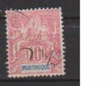 miniature MARTINIQUE         N°  45  ( 1 )      OBLITERE             ( 09/15 )
