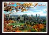 miniature Canada Cpm  Montréal centre-ville vu du mont Royal en automne