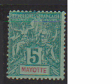 miniature MAYOTTE         N° YVERT    4     OBLITERE             ( 08/15 )