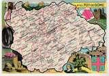 miniature cpsm 63 Puy-de-Dôme Carte Géographique de Pinchon