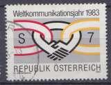 miniature Autriche 1983 YT ???? Obl Annee mondiale des telecoms