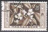 Madagascar 1956 Michel 435 O Cote (2005) 0.40 Euro Le café Cachet rond