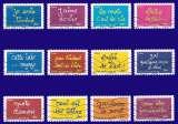 France - autoadhésif - Y&T 609 à 620 (o) - les timbres de Ben - année 2013