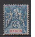 miniature GABON      N °  23     OBLITERE      (02/16 )