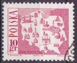 miniature POLOGNE 1966 OBLITERE N° 1555