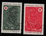 miniature France  Paire Croix Rouge   YT 1735 et 1736  o