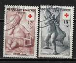 miniature France N° 1048/1049 ° Croix-Rouge 1955