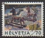 miniature Suisse 1998 - Y & T : 1574 - Jouets : Chevaux de bois