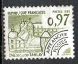 miniature France oblitéré Yvert PREO N°174 Château de TANLAY 1982