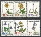 miniature Pologne 1967 -  YT n° 1625/1630 - Plantes officinales - cote 1,50