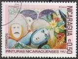 miniature C107 - Y&T n° 1223 - oblitéré - Masques de danseurs par M Garcia - 1982 - Nicaragua