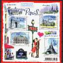 France 4514 4517 F 2010 (yt) Paris neuf ** luxe MNH sin charnela prix de la poste 2.32